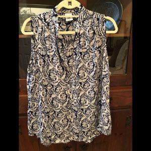 CAbi sleeveless blouse.